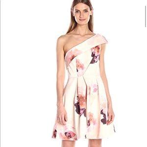 Keepsake one shoulder pink floral dress